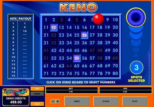Keno (Keno) from category Table and Card Games
