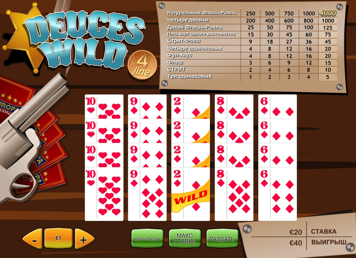 4 Line Deuces Wild () from category Video Poker