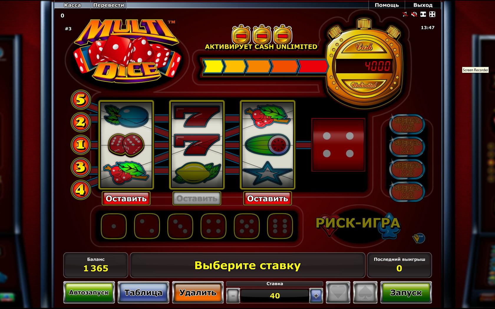 online slot machines casino games dice