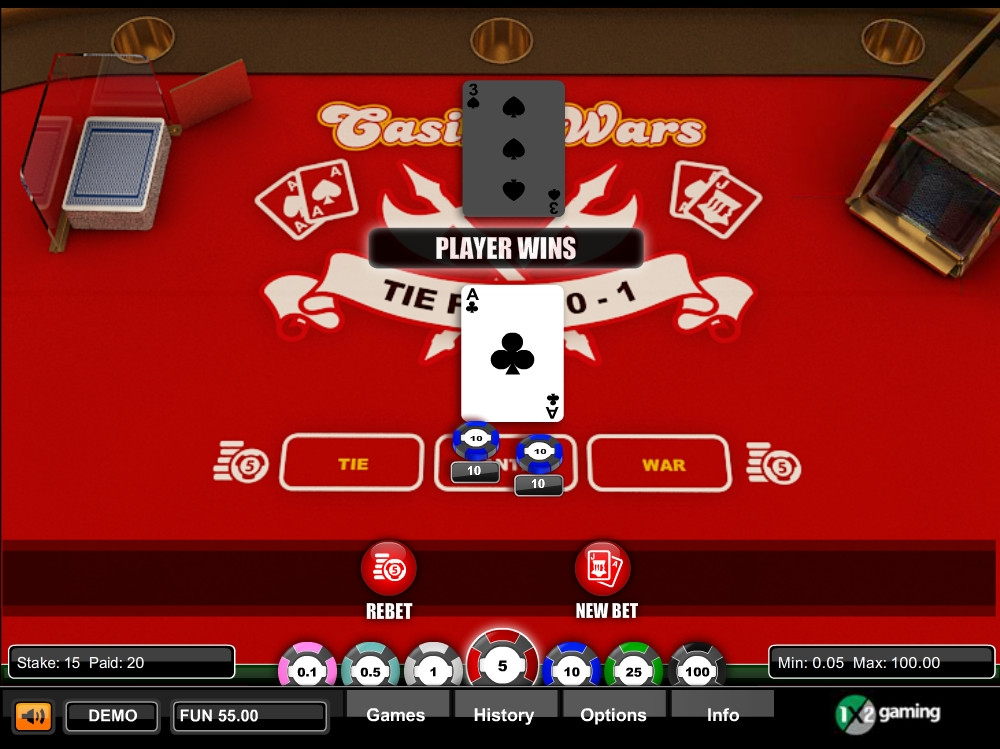 Casino Wars (Casino Wars) from category Table and Card Games