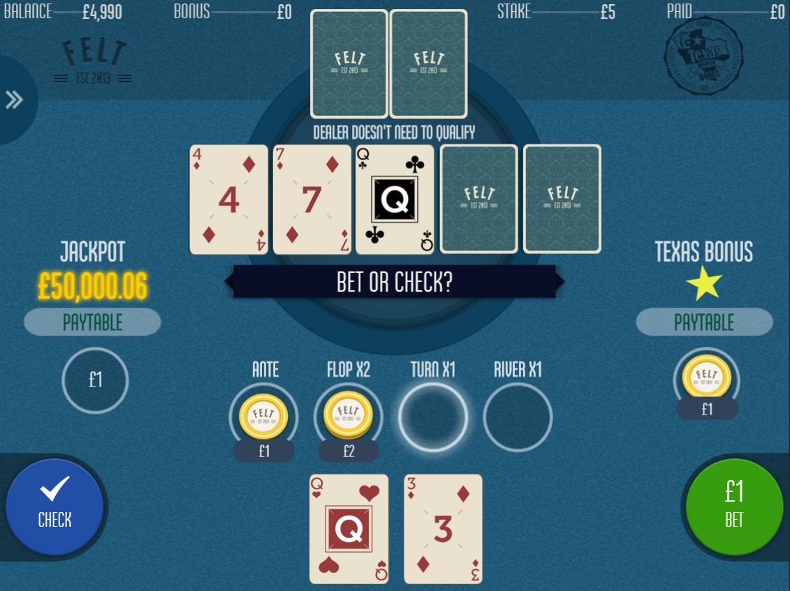 Progressive Texas Hold'em Bonus Poker (Progressive Texas Hold'em Bonus Poker) from category Poker