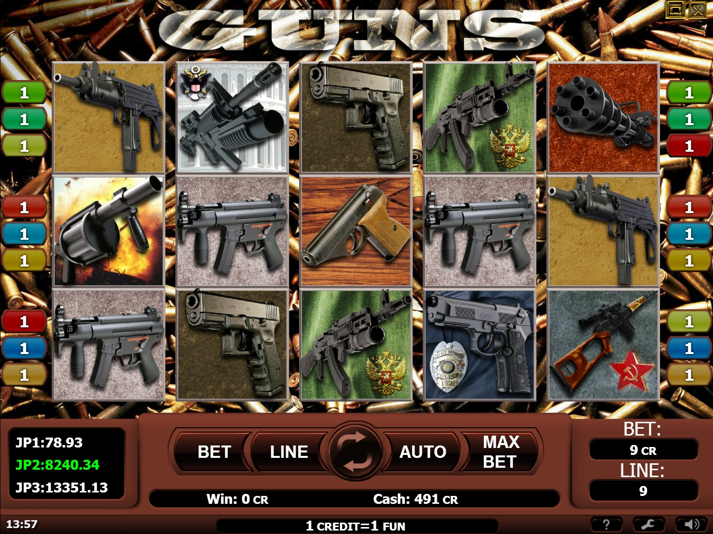 Guns (Guns) from category Slots