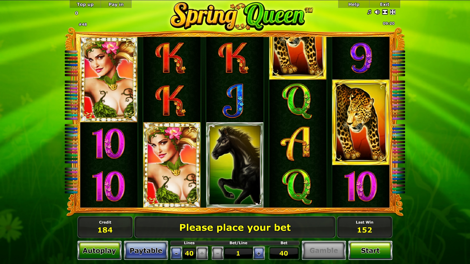 Spring Queen (Spring Queen) from category Slots