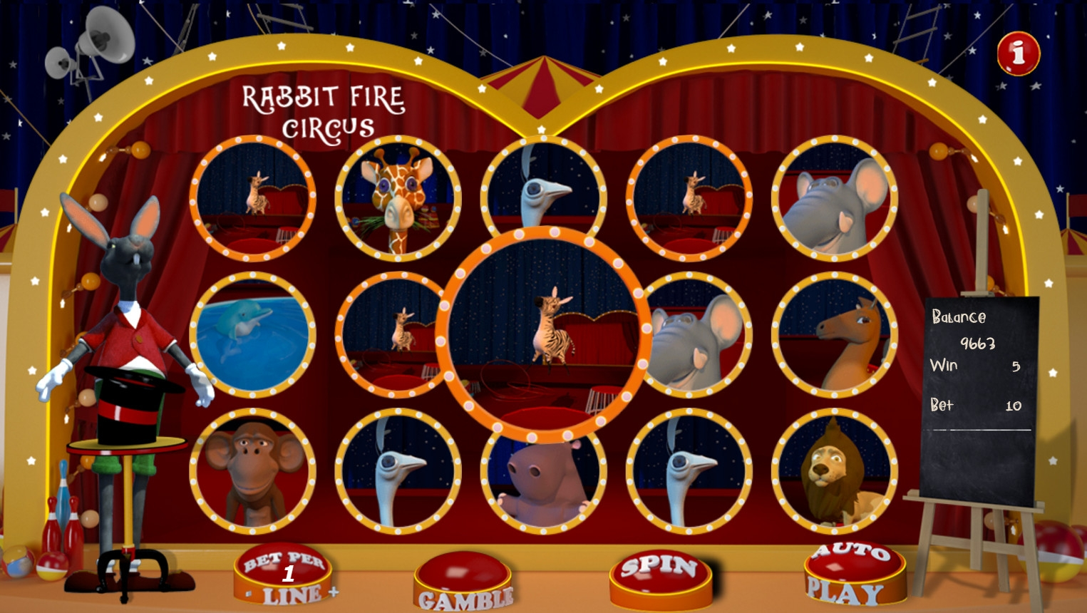 Rabbit Fire Circus (Rabbit Fire Circus) from category Slots