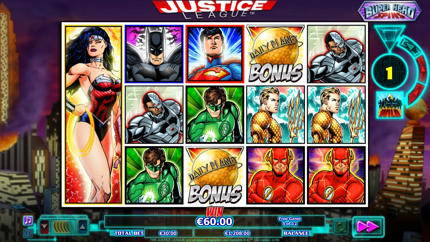 Justice League (Justice League) from category Slots