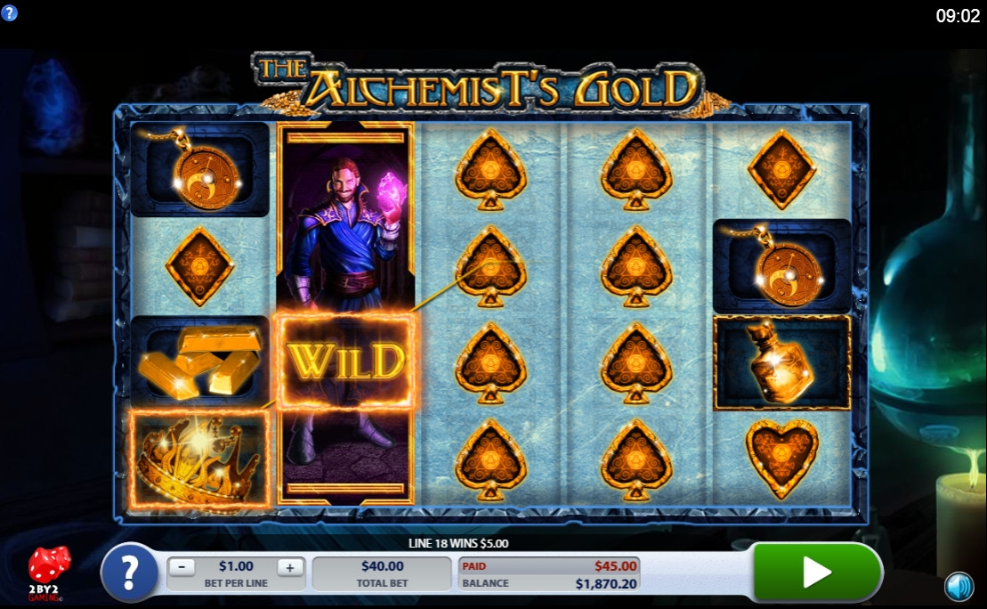 The Alchemist's Gold (The Alchemist's Gold) from category Slots