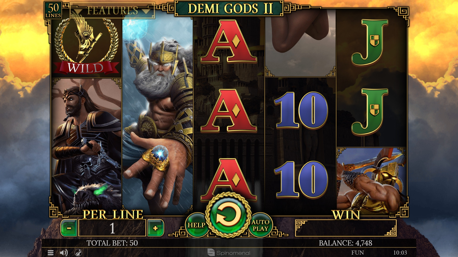 Demi Gods II (Demi Gods II) from category Slots